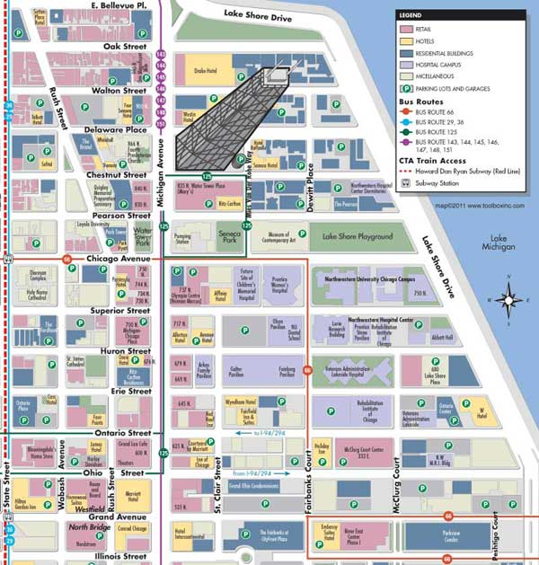 Chicago Gold Coast Map
