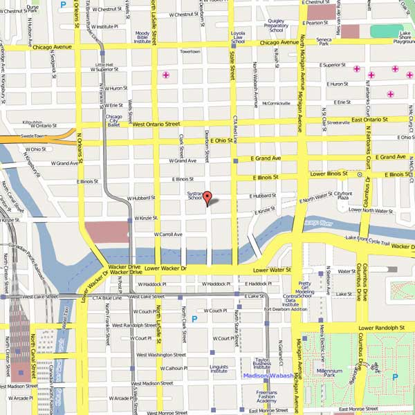 River North Chicago Map |