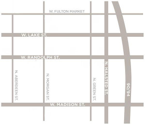 Map of the West Loop