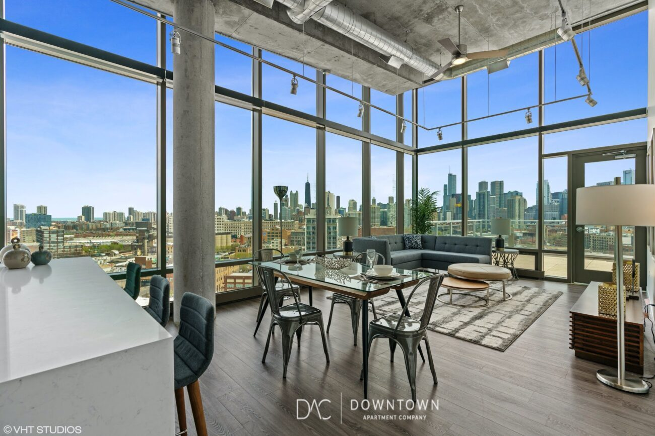 Spoke Now renting River West Luxury 2 Bedroom Penthouse Apartment in downtown Chicago at Spoke Apartments