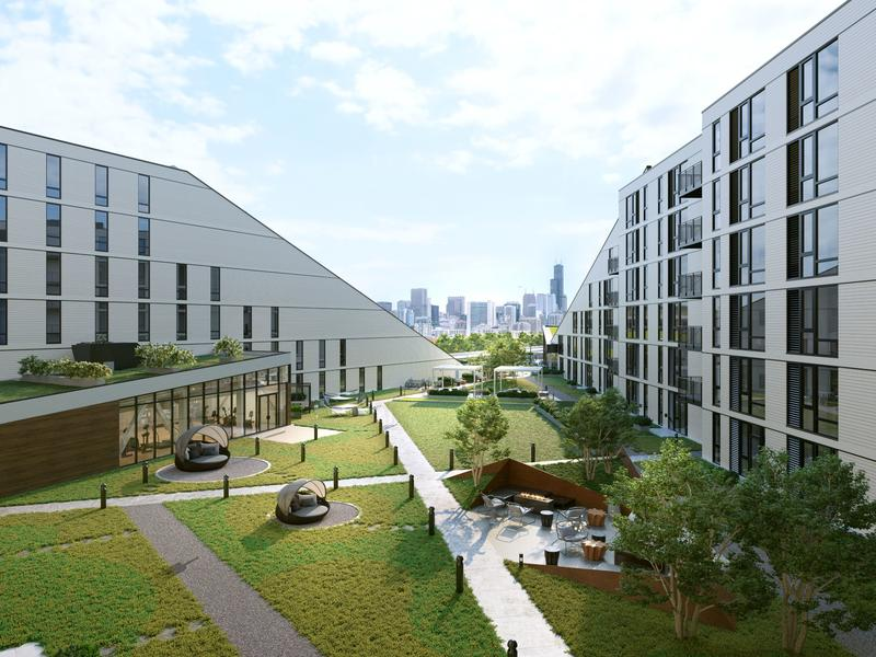 Studio and 3 bed apartments for rent at Triangle Square Lincoln Park in Chicago